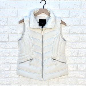 NWT Talbots Petites The Puffer Vest in White